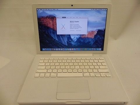 Macbook 2009 White Apple mac laptop on latest EL Capitan 10.11 OS