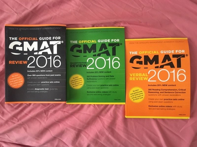 Three GMAT official guide 2016 for 10 pounds only