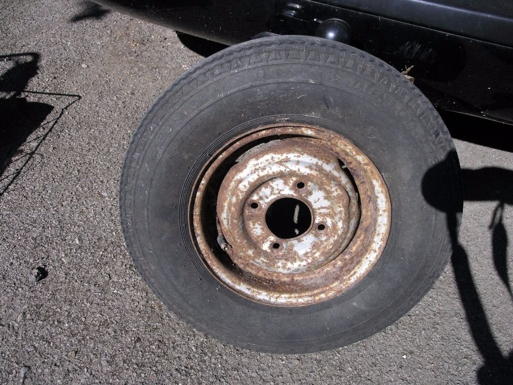 "Trailer Wheel 10"" Similar to mini wheels. 5.20 by 10 Dunlop Tyre. Weymouth"