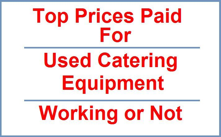 We Buy all used catering equipment. Cutlery, Pots/Pans, Sinks & Tables, ect. singles upwards All UK