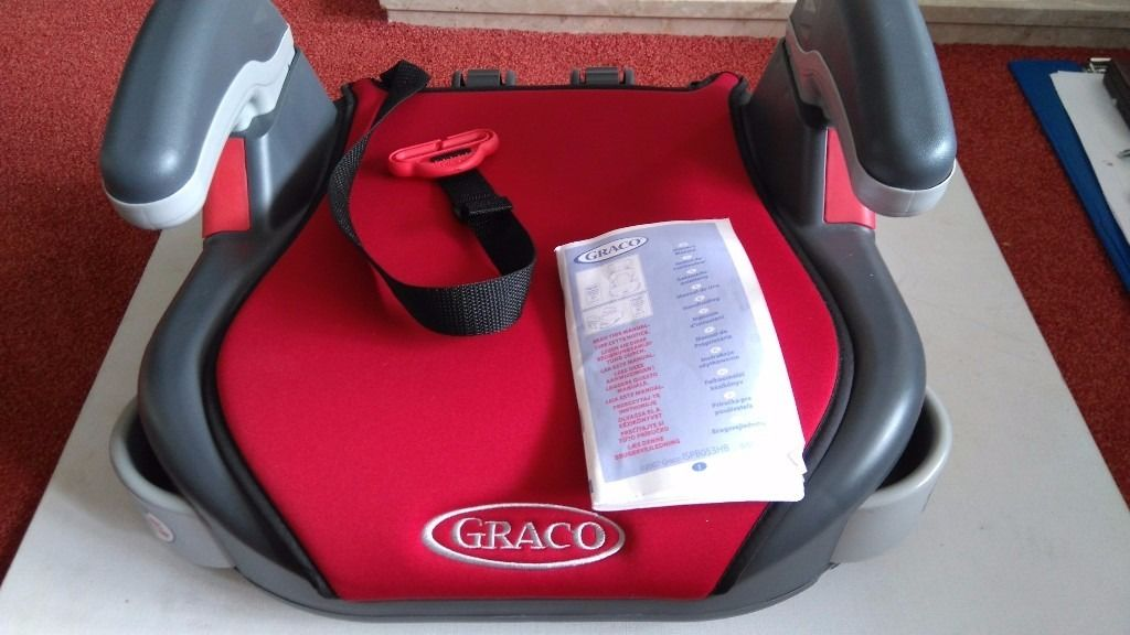 Graco red car booster seat