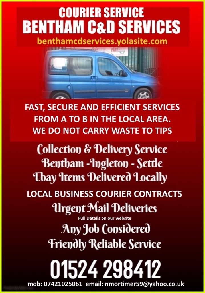 C&D SERVICES - Your LOCAL Courier for Skipton, Craven, Bentham, Ingleton, Kirkby Lonsdale