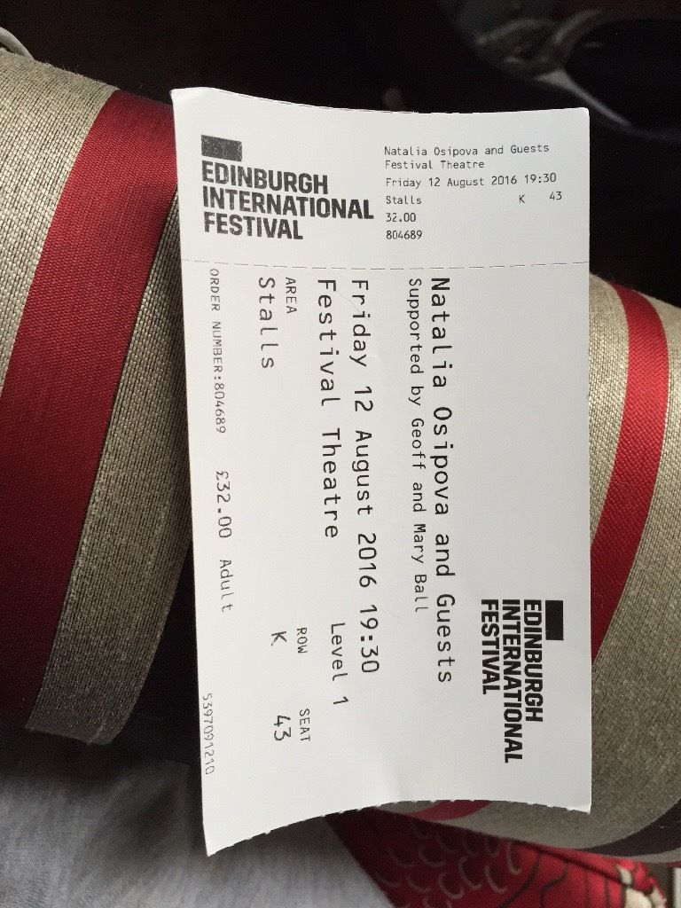 NATALIA OSIPOVA AND GUESTS ticket Edinburgh international festival