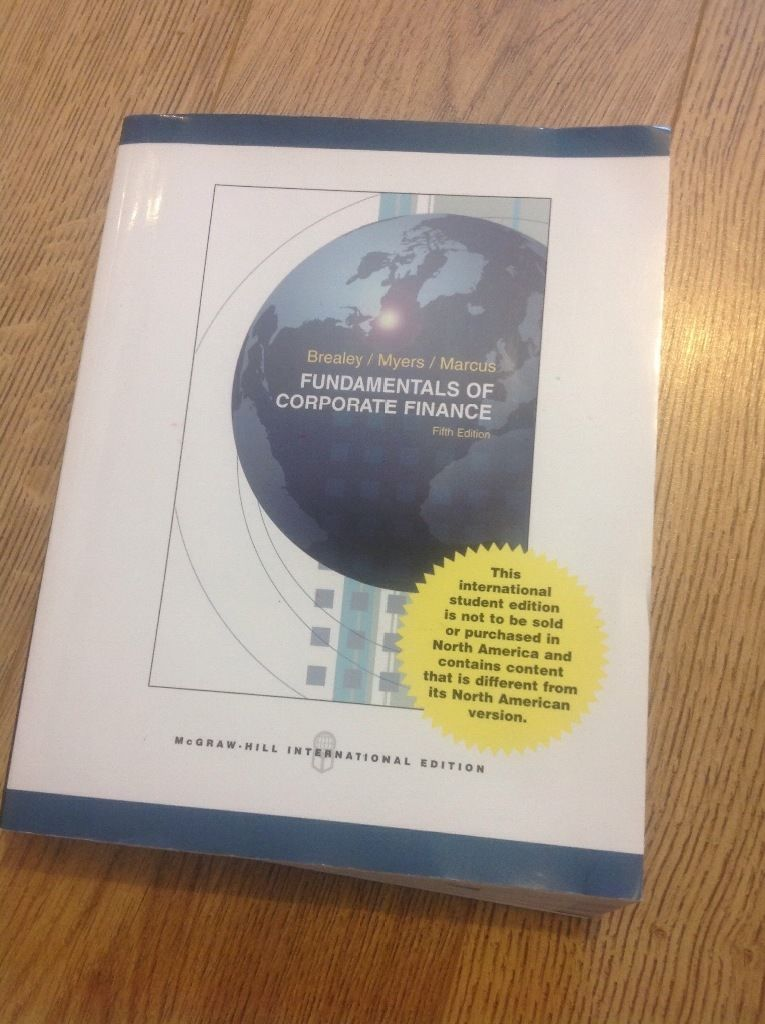 Fundamentals of corporate finance 5th edition