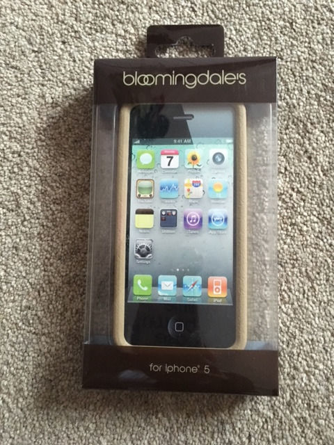 BLOOMINGDALES 'LITTLE BROWN CASE' COVER FOR IPHONE 5 - BRAND NEW IN PACKAGING