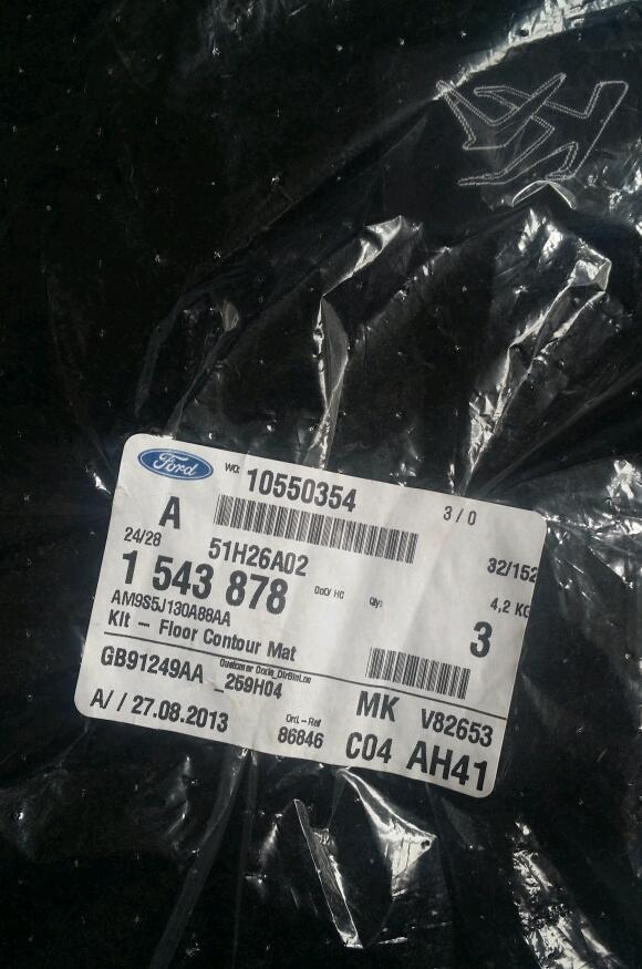 Ford KA floor contour mat set. Brand new