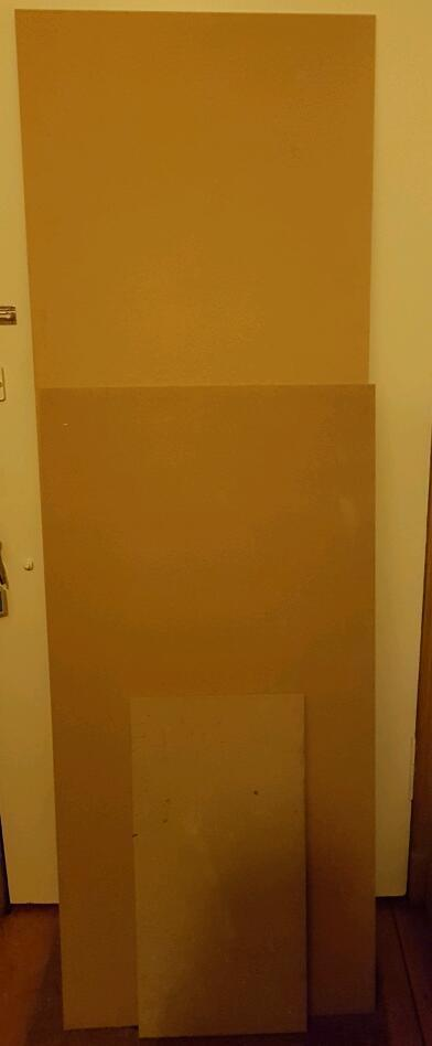 MDF/strips of wood in various sizes