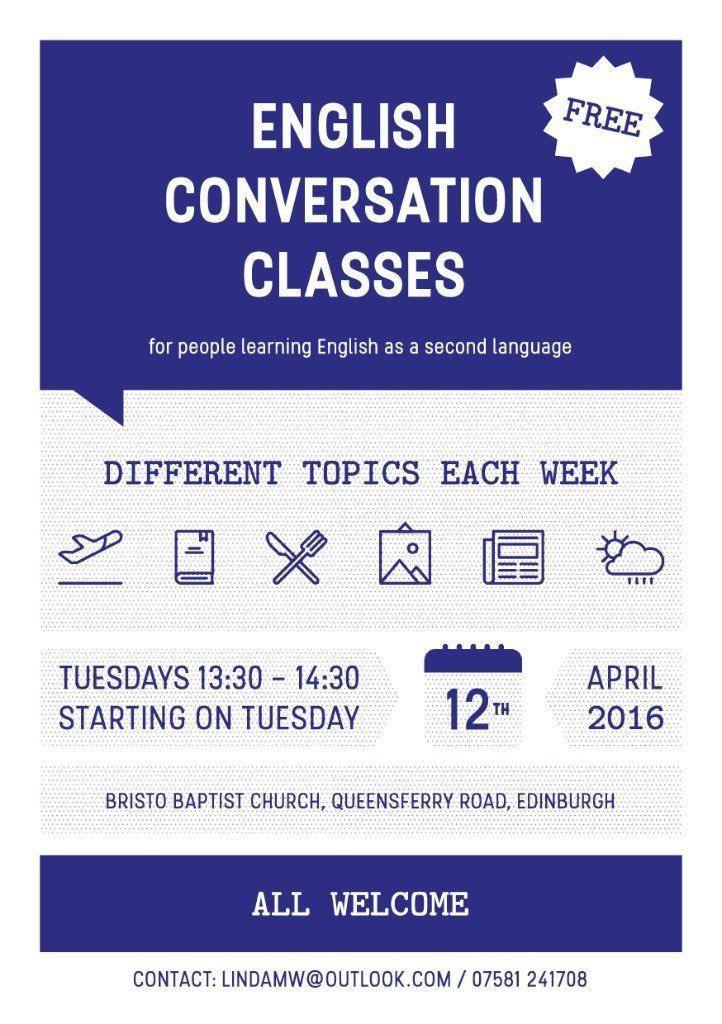 *FREE* ENGLISH (EFL) CONVERSATION CLASSES