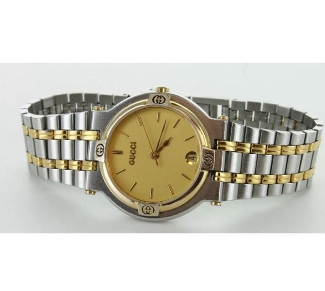 Gucci watch 9000M two tone great condition