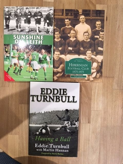 Hibernian FC three books for sale excellent condition