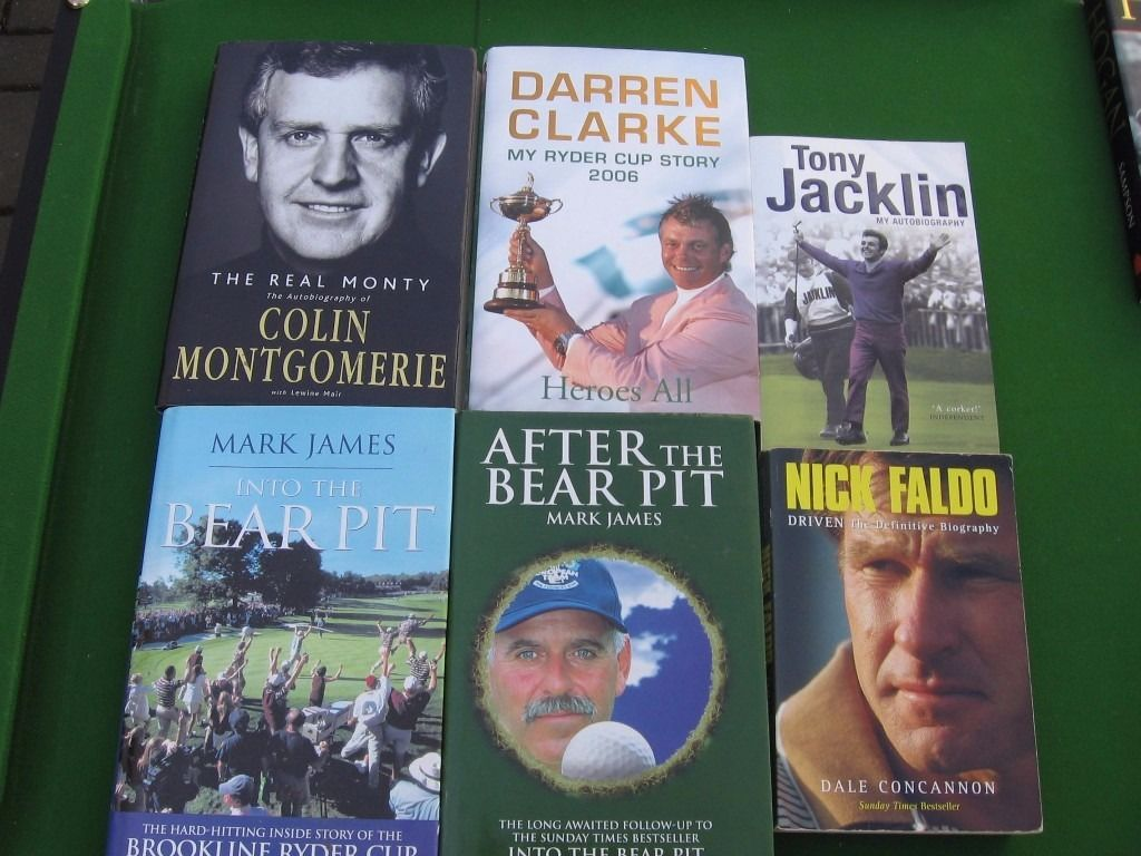Selection of 15 Hardback and Paperback Golf Books