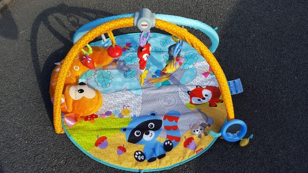 FISHER PRICE MOONLIGHT MEADOW DELUXE BABY GYM PLAY MAT