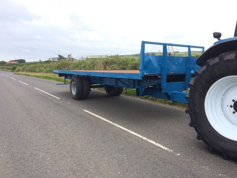 25f flat bed bale trailer