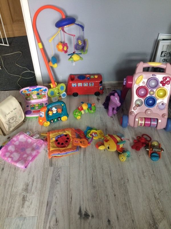 Bundle of toys walker cot mobile