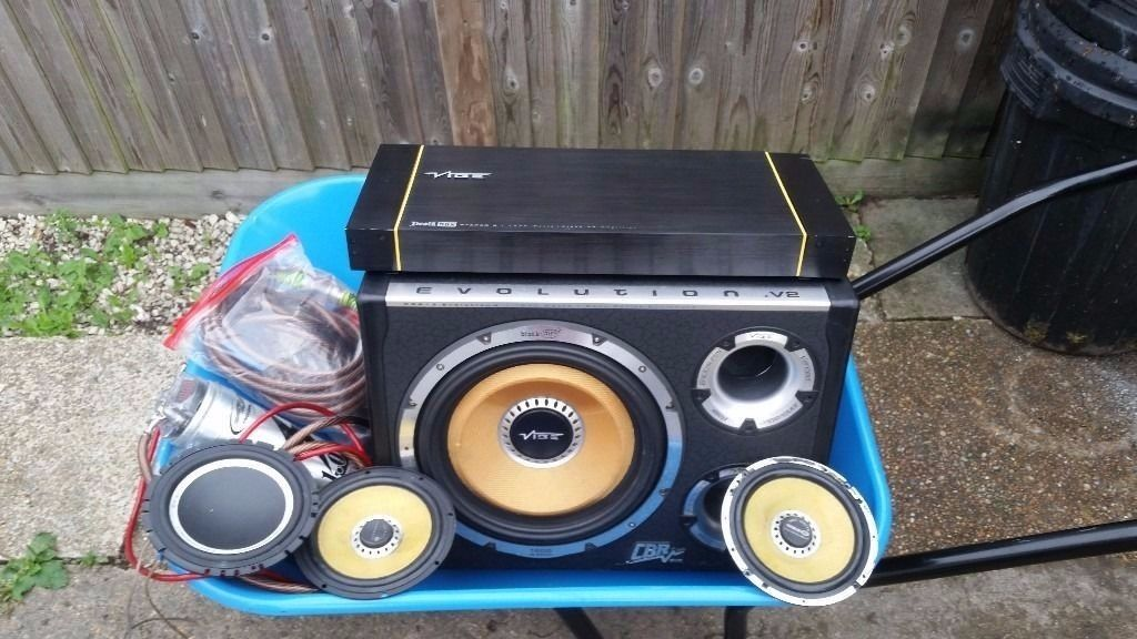VIBE SUBWOOFER VIBE SPEAKERS VIBE DEATH BOX AMPLIFIER AND ALL LEADS