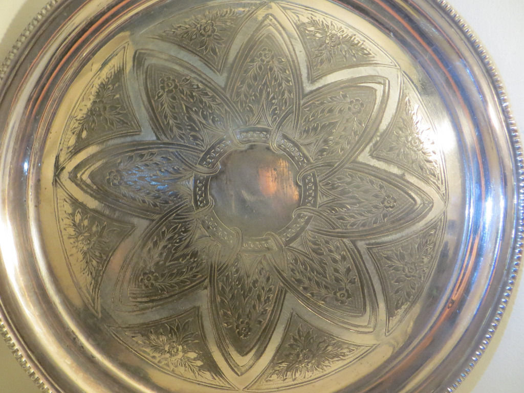 Antique Mid-Victorian Silver Plate Serving Tray James Dixon & Sons Drinks Tray