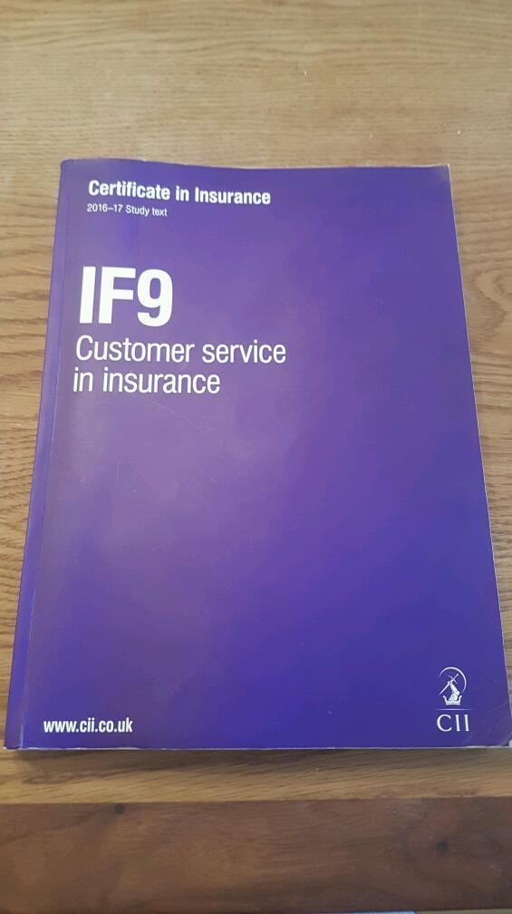 IF9 : Customer Service in Insurance 2016 Study Guide