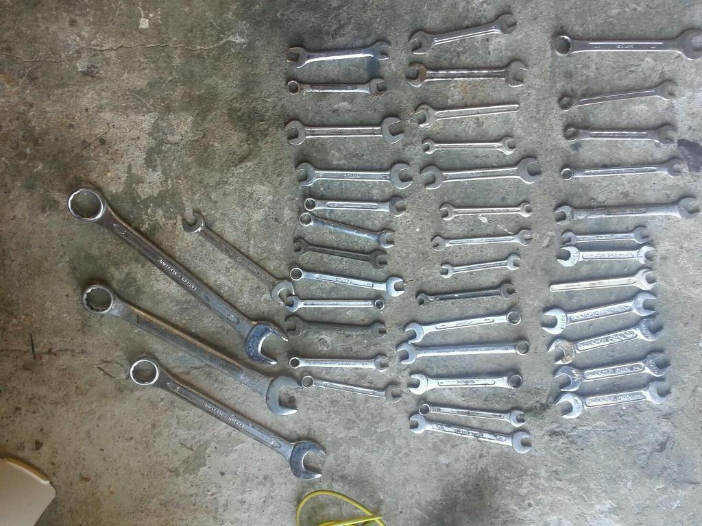 Selection of approx 40 spanners upto size 30 all made 8n england or good makes