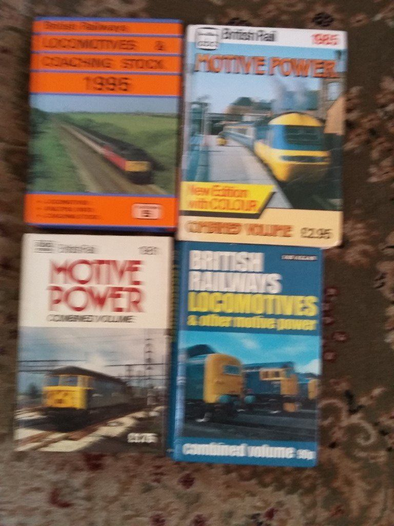 4 COMBINED VOLUMES TRAIN BOOKS 1981.1985,1972,,1995