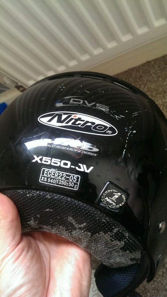 Motorbike or scooter helmet, small size