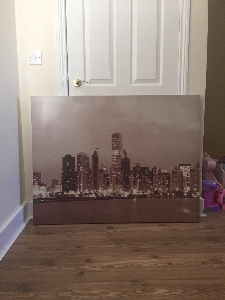 Large sky line canvas