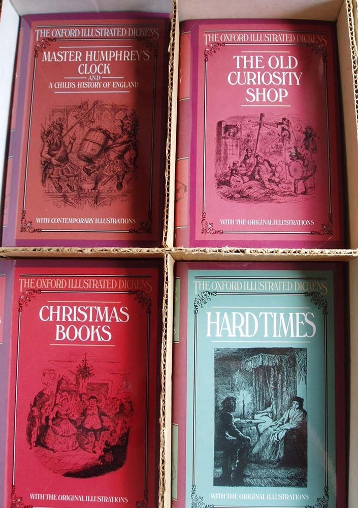 BOOKS - THE OXFORD ILLUSTRATED (Charles) DICKENS, 21 volumes, new. COLLECTION ONLY