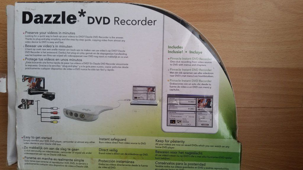 Dazzle DVD Recorder - convert VHS to DVD