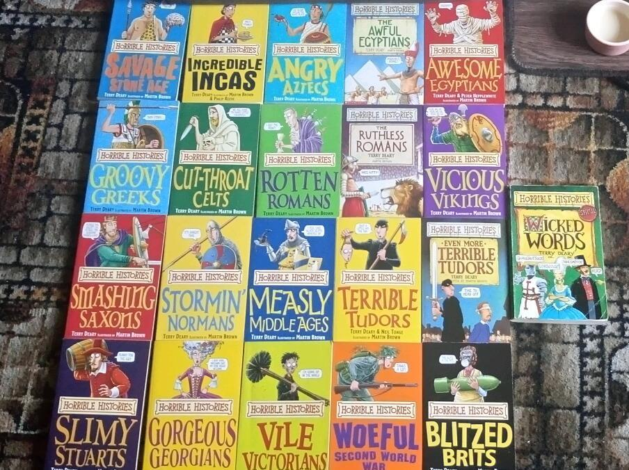 Set of Horrible Histories books