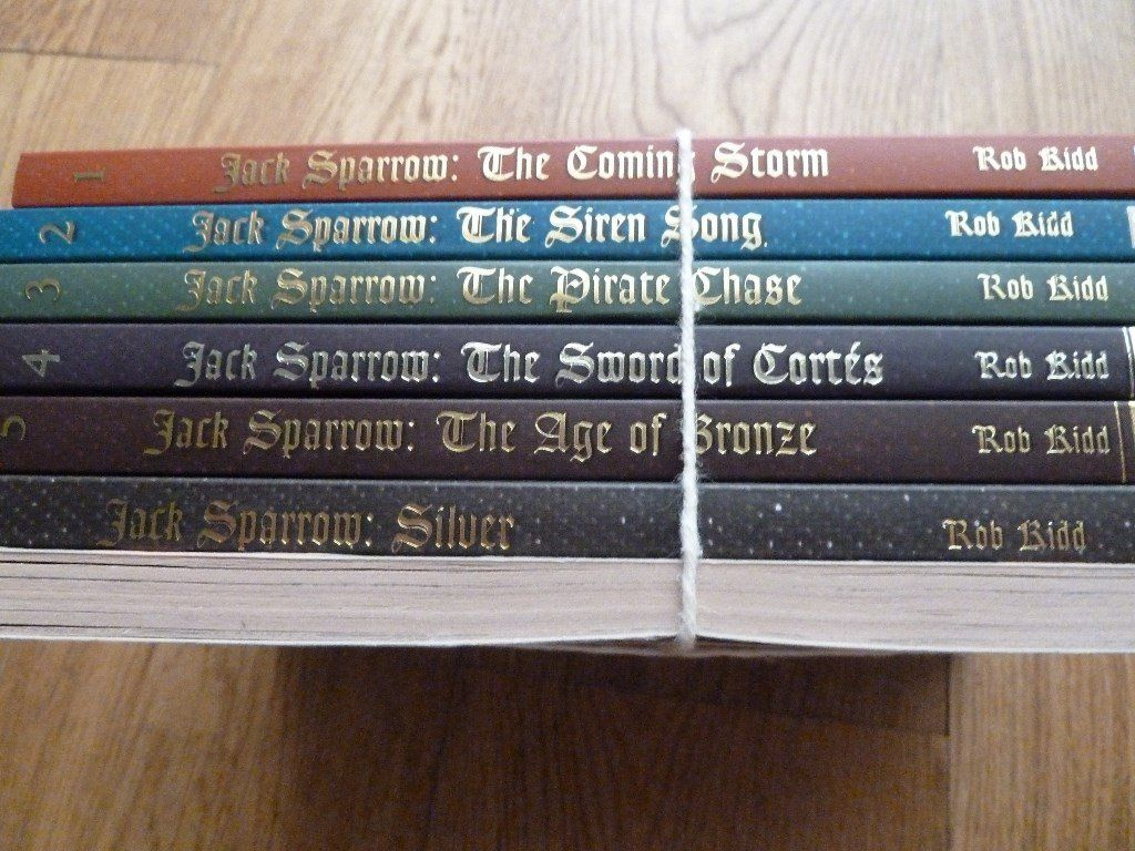 Pirates of the caribbean - Jack Sparrow books set of 7. Reading age approx 8-10years