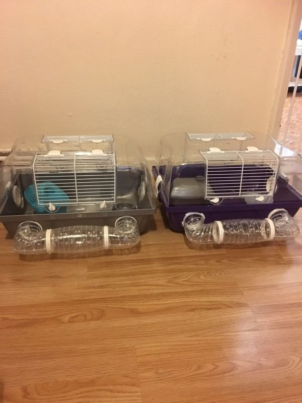 2 hamster cages for sale
