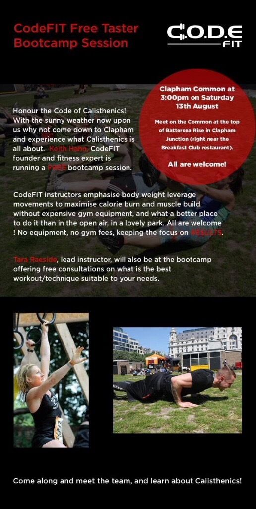 Bootcamp Training - Taster session