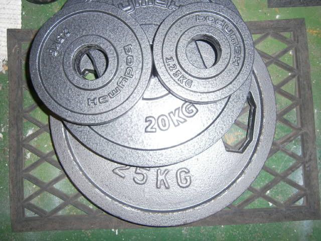 Olympic weights 107.5kg in total and large sizes.