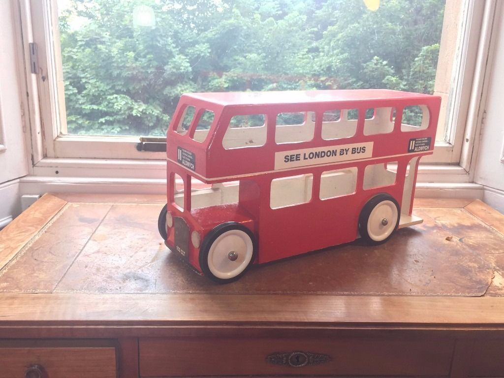 Hand built wooden LONDON BUS