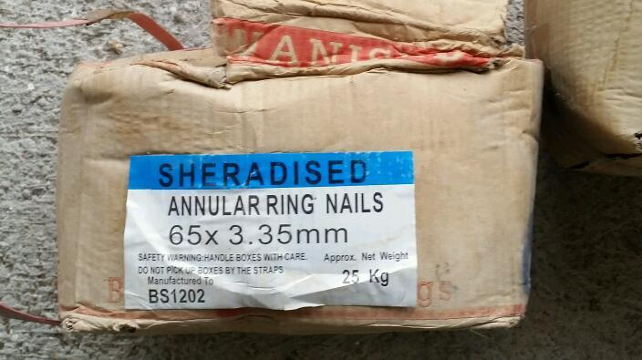 23.5 kg of Sheradised Annular Ring Nails 65 x 3.35mm