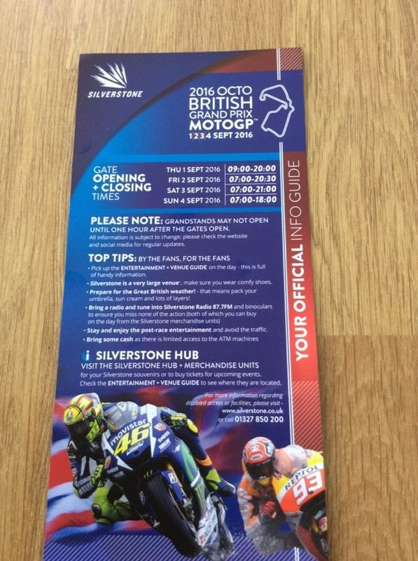 Moto GP Tickets Silverston