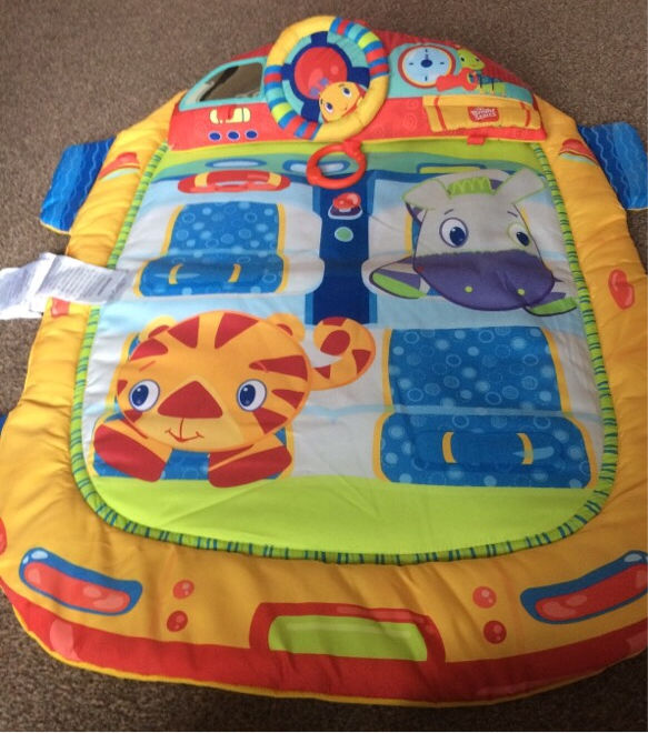 Bright start tummy times with steering wheel