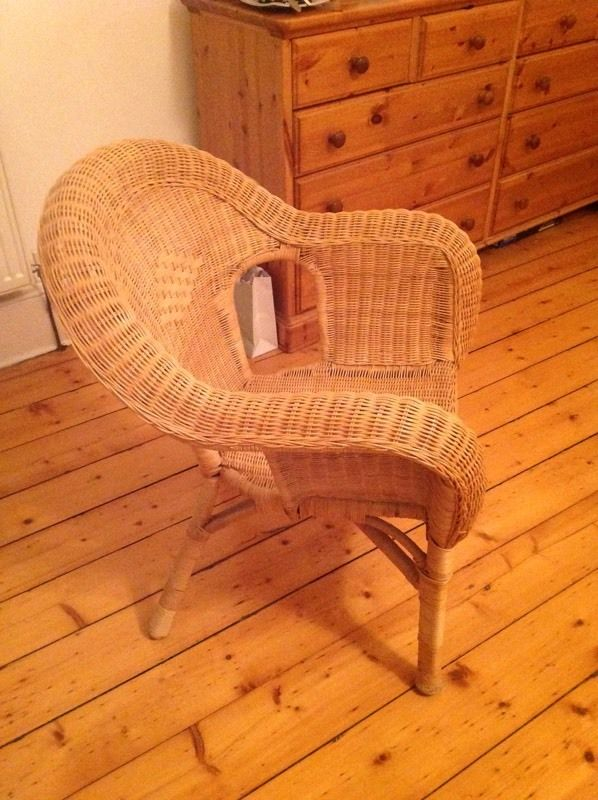 Pair of cane garden/bedroom chairs
