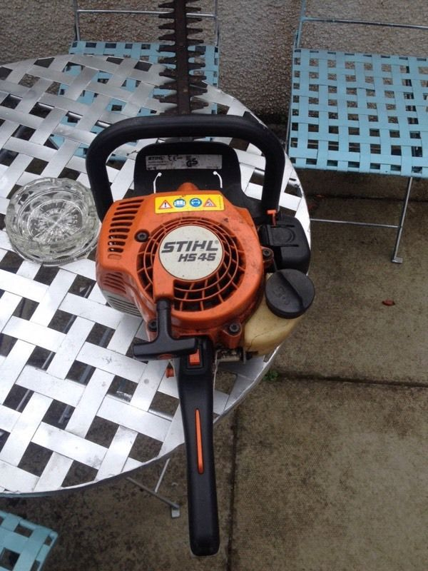 Stihl hedge cutter and strimmer