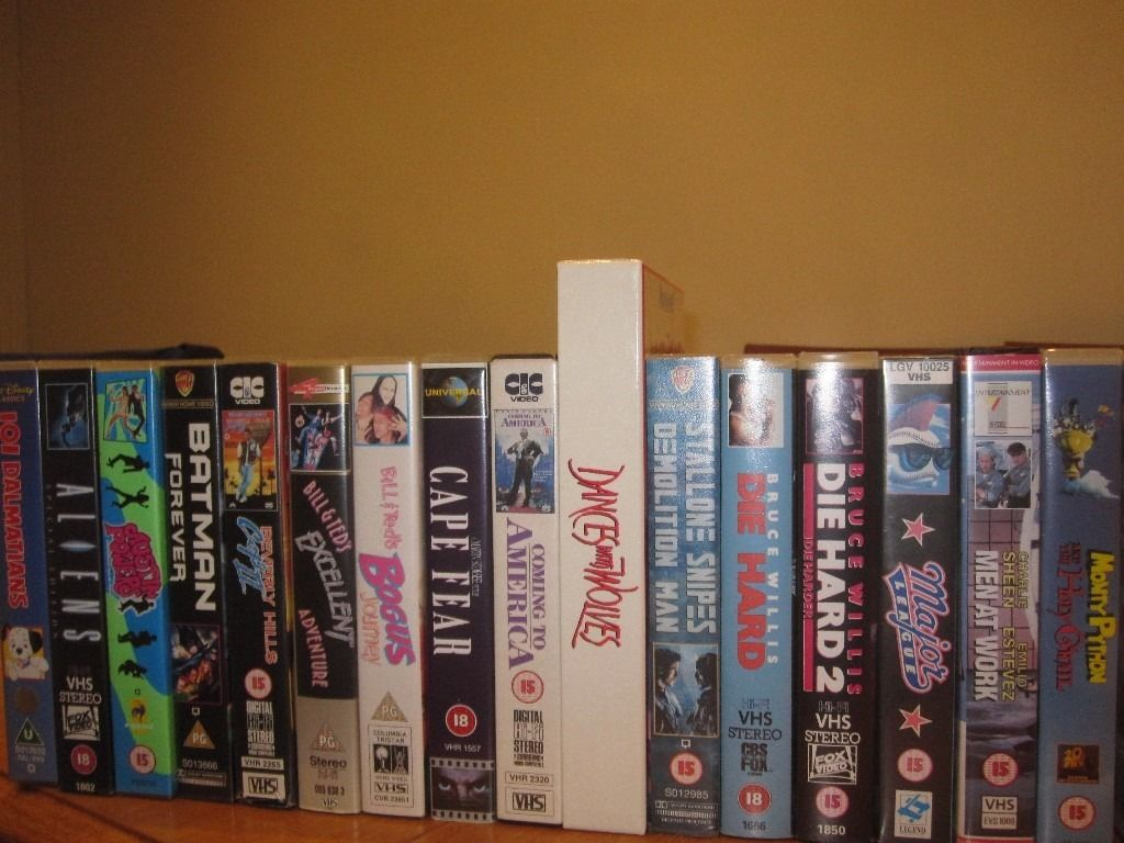 Selection of VHS Video Tapes