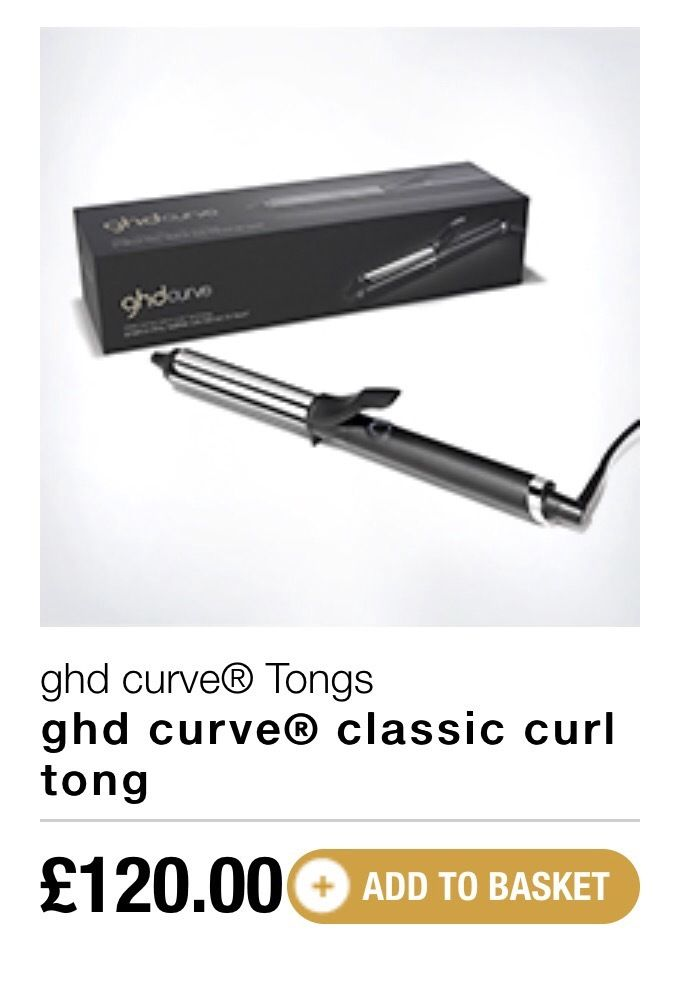 GHD CLASSIC CURVE TONGS