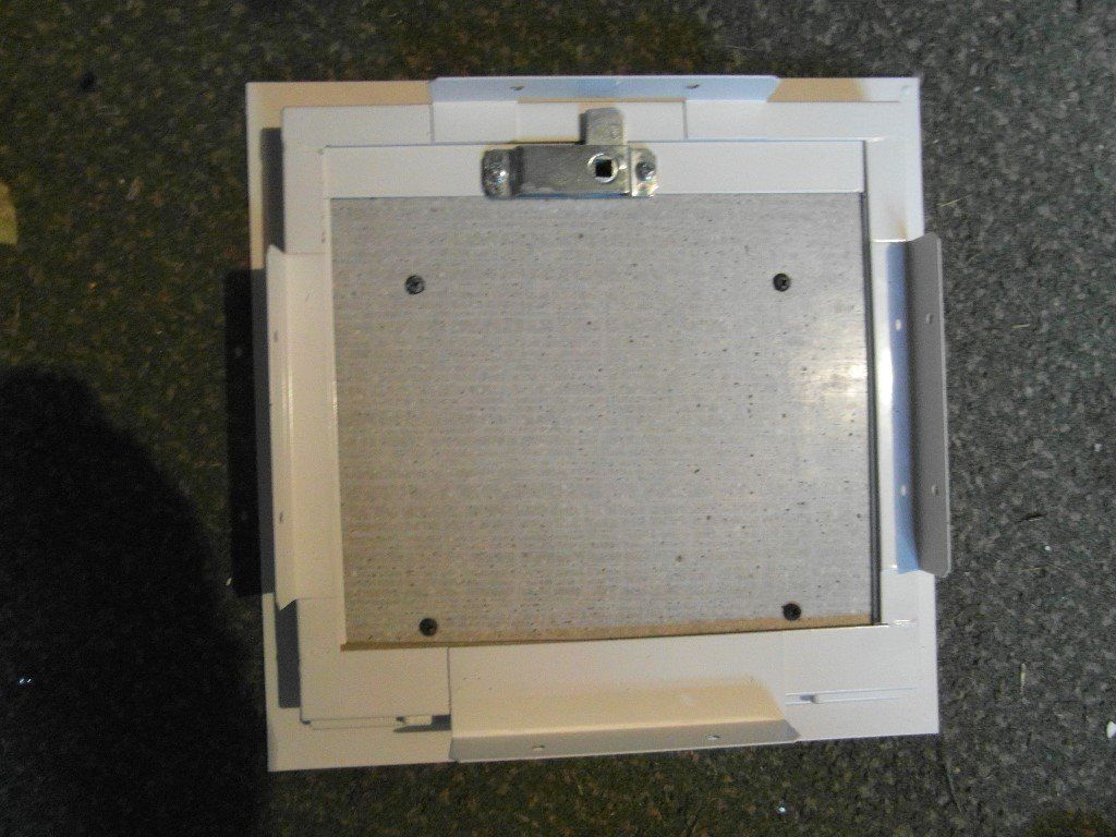 Fireproof metal flue inspection hatches,300mm x 300mm, suit ceiling or wall. 4 of