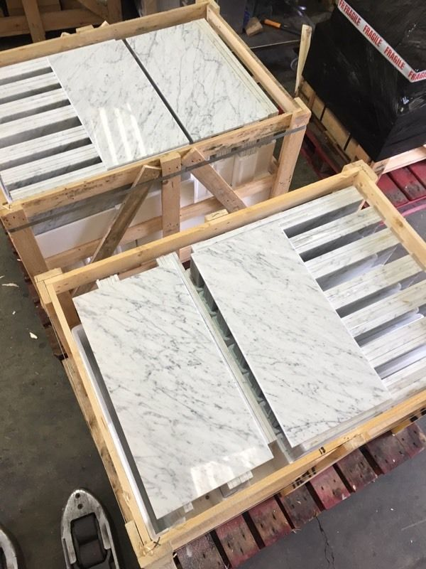 Bianco venato polished marble tiles floor and wall cover