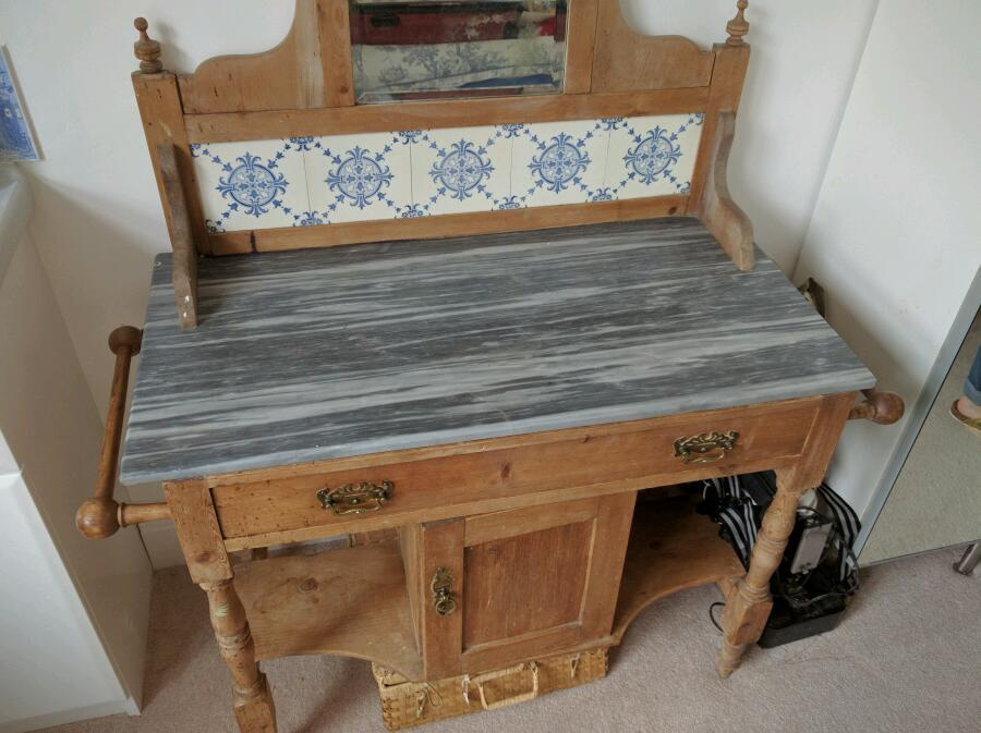Victorian wash stand, up cycle, shabby chic
