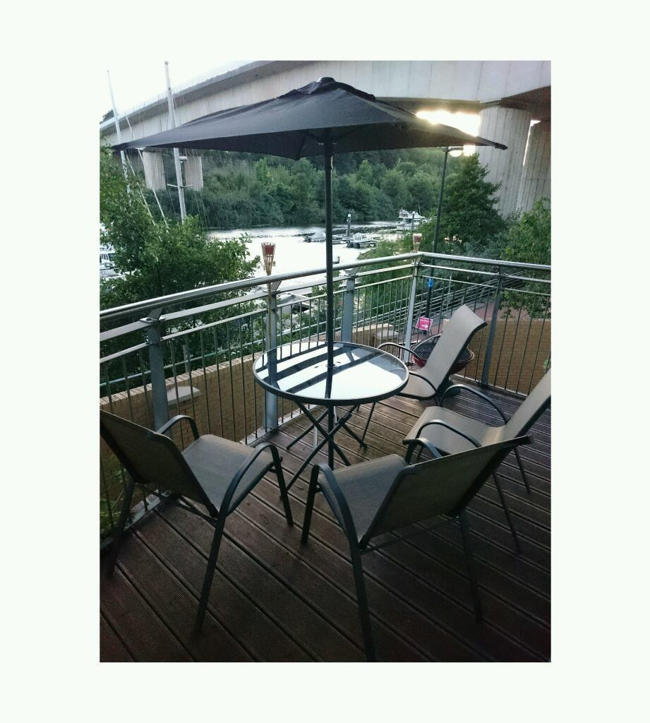 Balcony garden table and chairs set