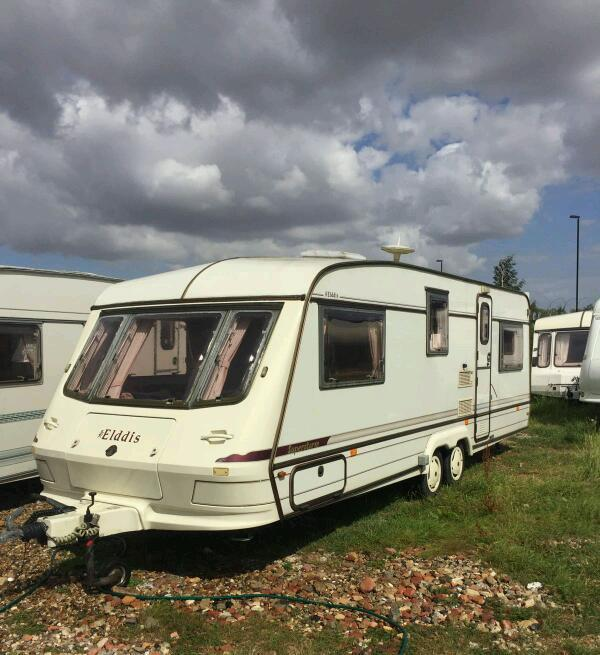 Elddis storm crusader 4/5/6 berth twin axle 1997 touring caravan