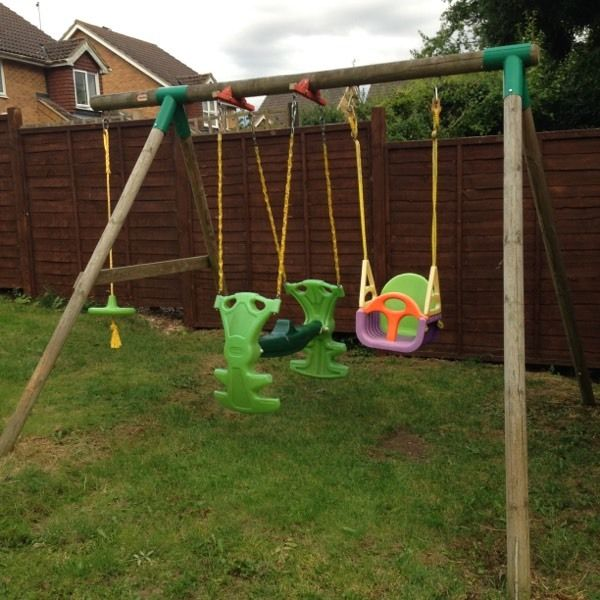 Little tikes wooden swing set