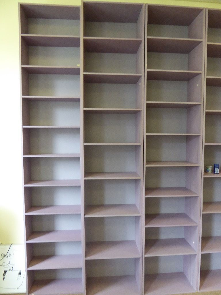 PAINTED WOODEN BOOKCASES