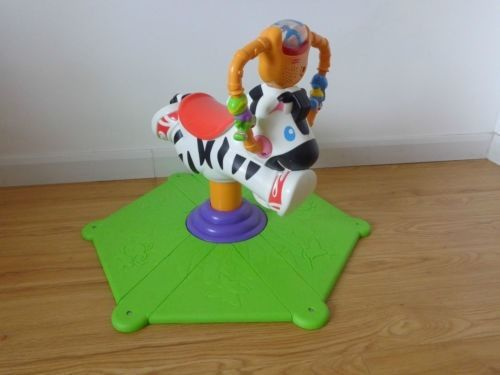 Fisher-Price Bounce 'n' Spin Zebra. Great used condition