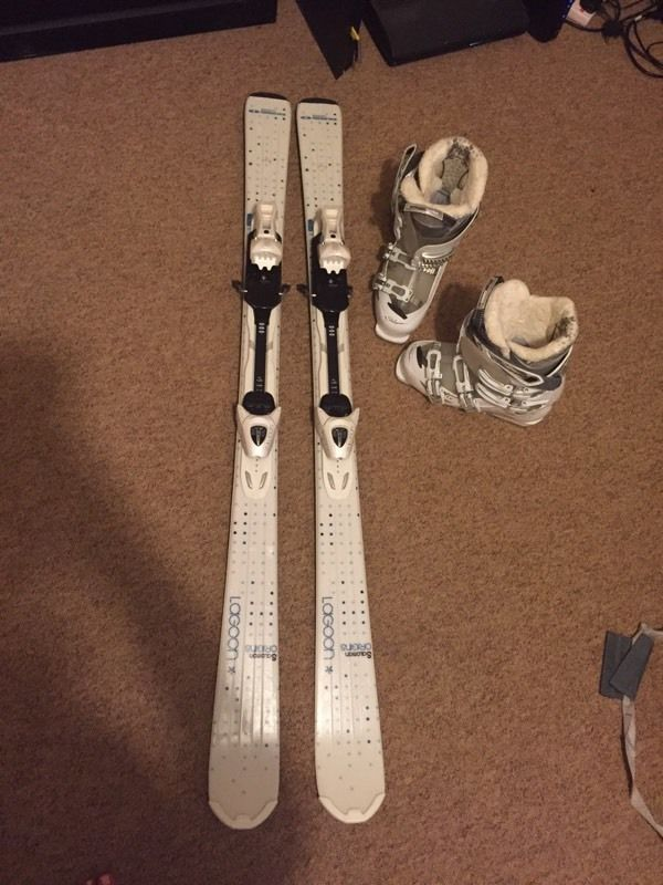 Salomon skis, boots and poles (and bag)