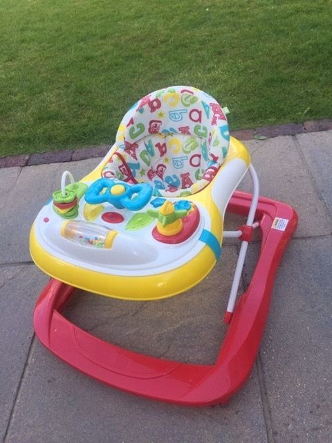 Mothercare B Baby Nursery ABC Rolling Walker with Lighted Musical Toy Tray
